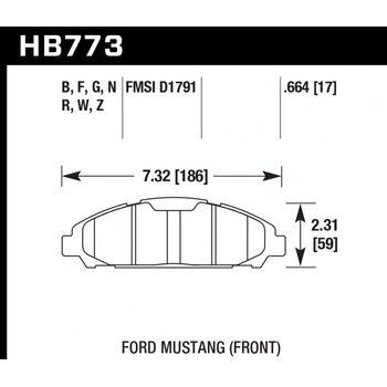 Колодки тормозные HB773R.664 HAWK Street Race; 17mm