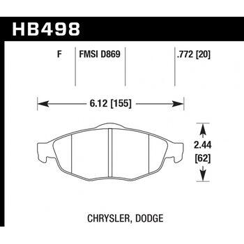 Колодки тормозные HB498F.772 HAWK HPS