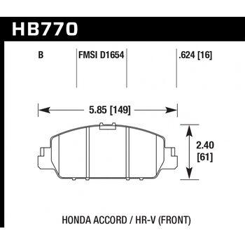 Колодки тормозные HB770B.624 HAWK HPS 5.0; 16mm