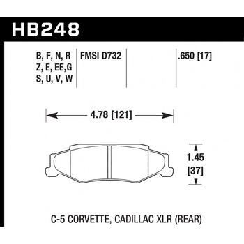 Колодки тормозные HB248R.650 HAWK Street Race