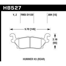 Колодки тормозные HB527Z.604 HAWK PC задние  Hummer H3
