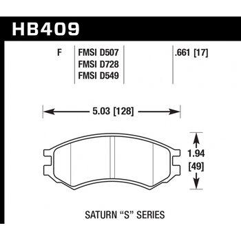 Колодки тормозные HB409F.661 HAWK HPS