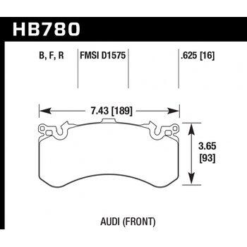Колодки тормозные HB780B.625 HAWK HPS 5.0; 16mm