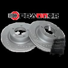 Комплект передних тормозных дисков и колодок Brannor для Land Cruiser 200/LX570 2007-2015