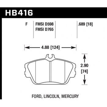 Колодки тормозные HB416F.689 HAWK HPS