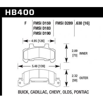 Колодки тормозные HB400F.630 HAWK HPS