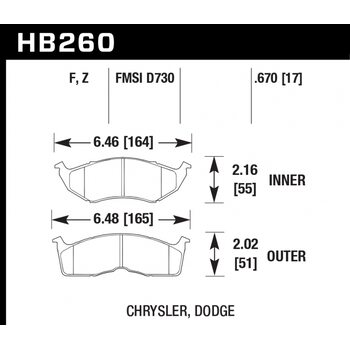 Колодки тормозные HB260Z.670 HAWK Perf. Ceramic