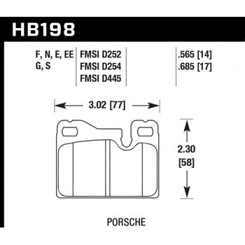 Колодки тормозные HB198N.565 HAWK HP Plus