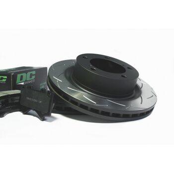 КОМПЛЕКТ ПЕРЕДНИЙ: Тормозные диски DBA 42722S T3 + колодки  DC brakes sHD Toyota  LC200,Lexus LX570