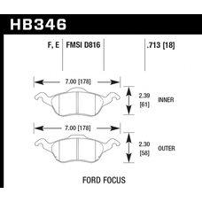 Колодки тормозные HB346F.713 HAWK HPS передние FORD Focus