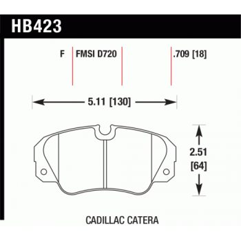 Колодки тормозные HB423F.709 HAWK HPS; 18mm