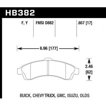 Колодки тормозные HB382F.657 HAWK HPS