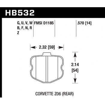 Колодки тормозные HB532R.570 HAWK Street Race
