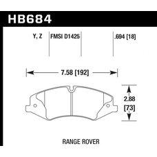 Колодки тормозные HB684Z.694 HAWK Perf. Ceramic  Range Rover Sport V8 5.0, 3.0TD