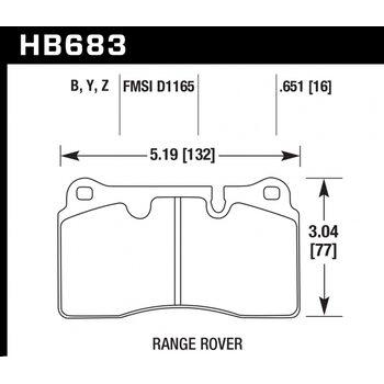 Колодки тормозные HB683B.651 HAWK HPS ; 17mm