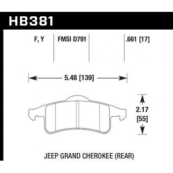 Колодки тормозные HB381F.661 HAWK HPS