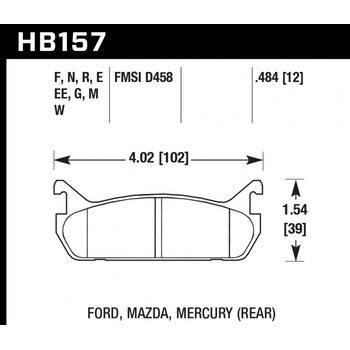 Колодки тормозные HB157R.484 HAWK Street Race