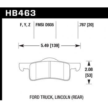 Колодки тормозные HB463F.787 HAWK HPS