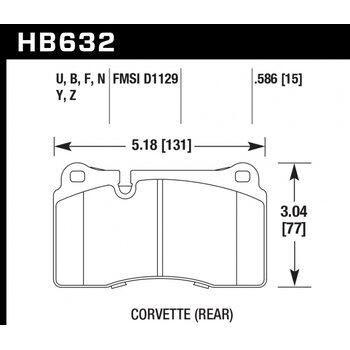 Колодки тормозные HB632N.586 HAWK HP Plus  передние AUDI TT RS (8J);  EVO; WRX STI