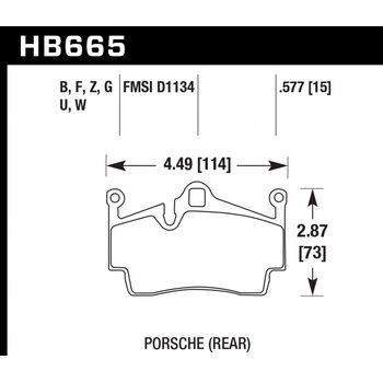 Колодки тормозные HB665B.577 HAWK HPS 5.0; 15mm