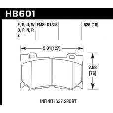 Колодки тормозные HB601R.626 HAWK Street Race; 16mm