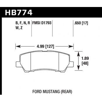 Колодки тормозные HB774R.650 HAWK Street Race; 17mm