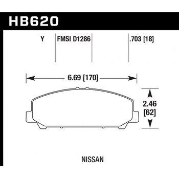 Колодки тормозные HB620Y.703 HAWK LTS передние INFINITI QX56 после 2006 г.в.