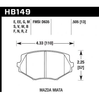 Колодки тормозные HB149R.505 HAWK Street Race