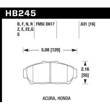 Колодки тормозные HB245R.631 HAWK Street Race