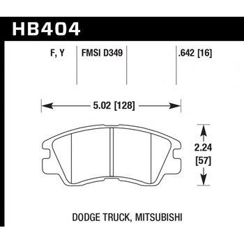 Колодки тормозные HB404Y.642 HAWK LTS; 17mm