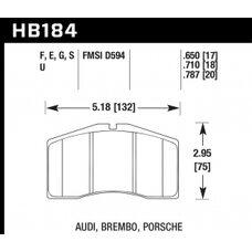 Колодки тормозные HB184F.650 HAWK HPS  Brembo, Alcon, Porsche