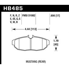 Колодки тормозные HB485R.656 HAWK Street Race