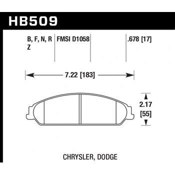 Колодки тормозные HB509R.678 HAWK Street Race