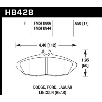 Колодки тормозные HB428F.650 HAWK HPS