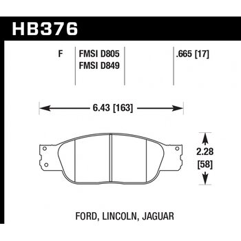 Колодки тормозные HB376F.665 HAWK HPS