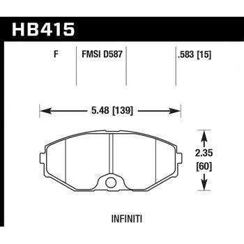 Колодки тормозные HB415F.583 HAWK HPS