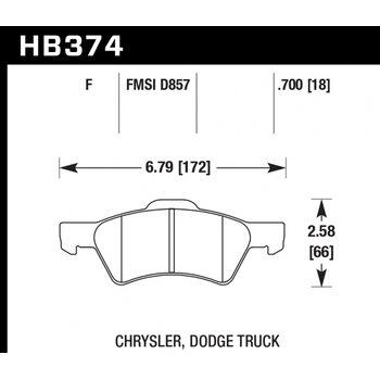Колодки тормозные HB374F.700 HAWK HPS