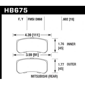 Колодки тормозные HB675Y.602 HAWK LTS