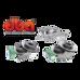 Комплект тормозных дисков DBA 42722s 42723s и колодок Hawk LTS,шлангов на Lx570/LC200 до 16 года