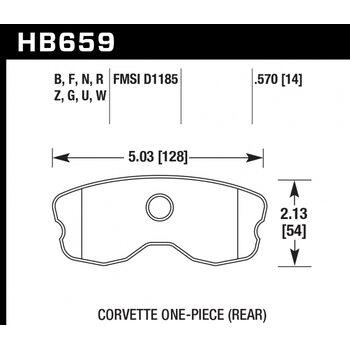 Колодки тормозные HB659R.570 HAWK Street Race; 15mm
