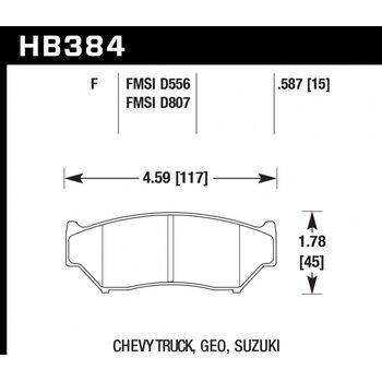 Колодки тормозные HB384F.587 HAWK HPS
