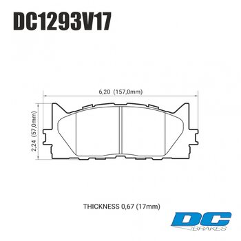 Колодки тормозные DC1293V17 DC brakes Street STR.S, передние TOYOTA CAMRY 2007->