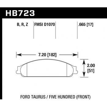 Колодки тормозные HB723R.665 HAWK Street Race