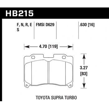 Колодки тормозные HB215R.630 HAWK Street Race; 16mm