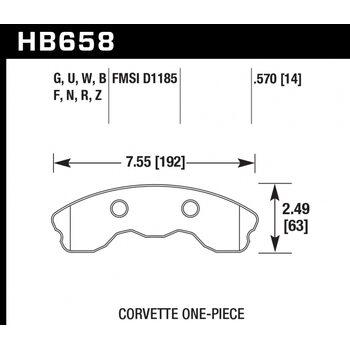 Колодки тормозные HB658R.570 HAWK Street Race