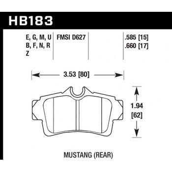 Колодки тормозные HB183R.585 HAWK Street Race