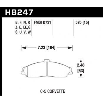Колодки тормозные HB247R.575 HAWK Street Race
