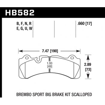 Колодки тормозные HB582R.660 HAWK Street Race; 17mm