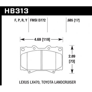 Колодки тормозные HB313R.685 HAWK Street Race; 18mm