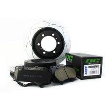 КОМПЛЕКТ ПЕРЕДНИЙ:Тормозные диски DBA 2736S T2+колодки DC brakes sHD Toyota  PRADO  / Lexus GX460
